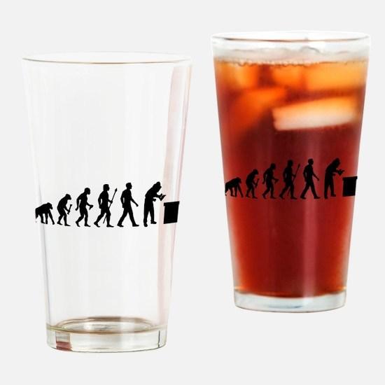 Beekeeping Evolution Drinking Glass