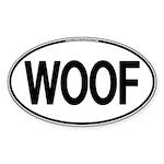 WOOF Oval Oval Sticker