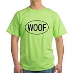 WOOF Oval Green T-Shirt