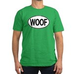 WOOF Oval Men's Fitted T-Shirt (dark)