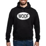WOOF Oval Hoodie (dark)