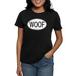 WOOF Oval Women's Dark T-Shirt