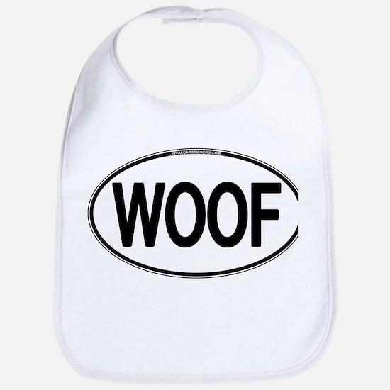 WOOF Oval Bib