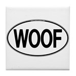 WOOF Oval Tile Coaster