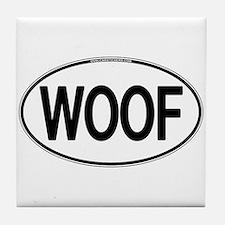WOOF Oval Tile Coaster