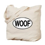 WOOF Oval Tote Bag