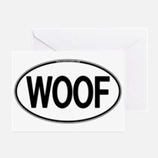 WOOF Oval Greeting Card