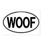 WOOF Oval Postcards (Package of 8)