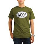 WOOF Oval Organic Men's T-Shirt (dark)