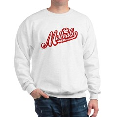Midrealm Red/White Vintage Retro Sweatshirt