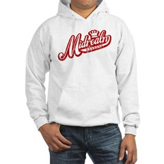 Midrealm Red/White Vintage Retro Hoodie