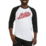 Midrealm Red/White Vintage Retro Baseball Jersey