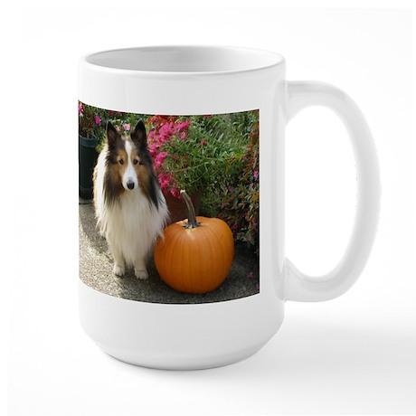 Pumpkin Girl Large Mug