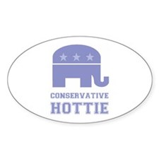 Conservative Hottie Oval Decal