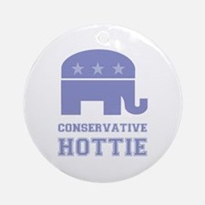 Conservative Hottie Ornament (Round)