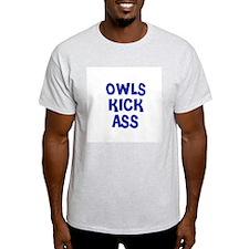 Owls Kick Ass Ash Grey T-Shirt