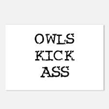 Owls Kick Ass Postcards (Package of 8)