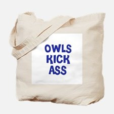 Owls Kick Ass Tote Bag
