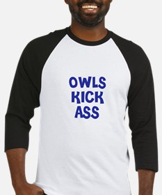 Owls Kick Ass Baseball Jersey
