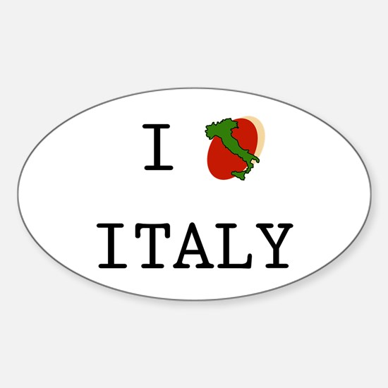 I Love Italy Boot Oval Decal