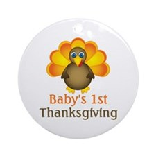 Baby's 1st Thanksgiving Ornament (Round)