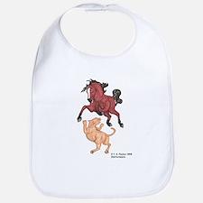 Mustang Horse & cougar Bib