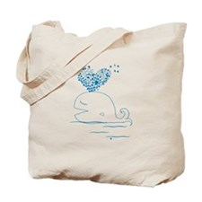 whale of love Tote Bag