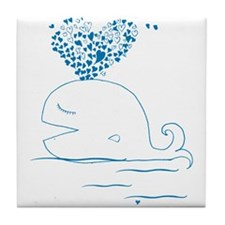 whale of love Tile Coaster