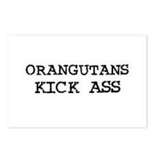 Orangutans Kick Ass Postcards (Package of 8)
