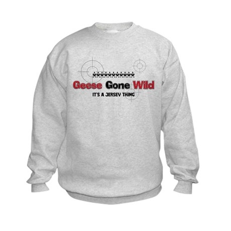 Geese Gone Wild Kids Sweatshirt