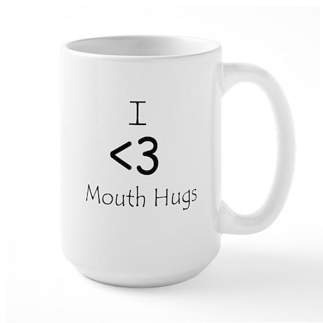 I Heart Mouth Hugs Large Mug