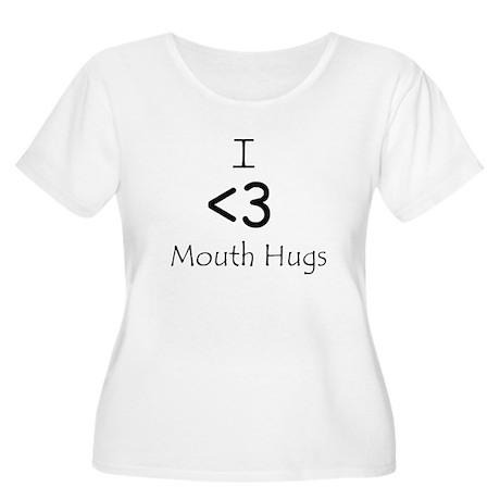 I Heart Mouth Hugs Women's Plus Size Scoop Neck T-