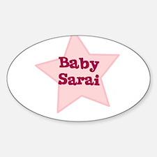 Baby Sarai Oval Decal