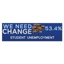 We Need Change Bumper Bumper Sticker