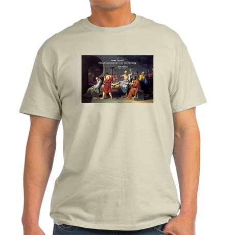 Know Thyself Socrates Quote Ash Grey T-Shirt