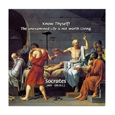 Know Thyself Socrates Quote Tile Coaster