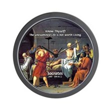 Know Thyself Socrates Quote Wall Clock