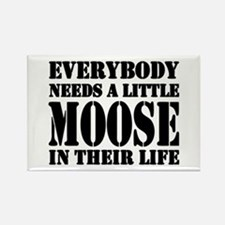 Get a Little Moose Rectangle Magnet
