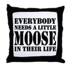 Get a Little Moose Throw Pillow