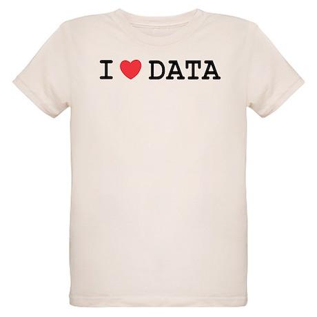 I Heart Data Organic Kids T-Shirt