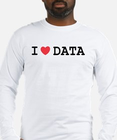 I Heart Data Long Sleeve T-Shirt