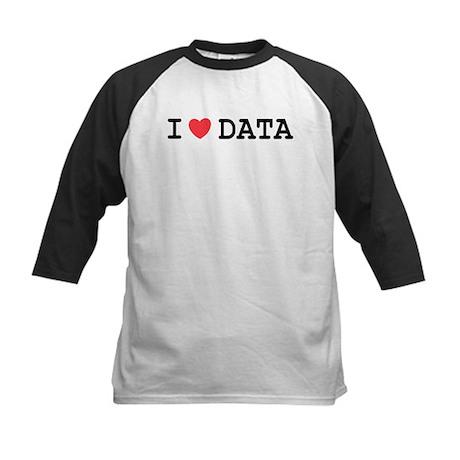 I Heart Data Kids Baseball Jersey