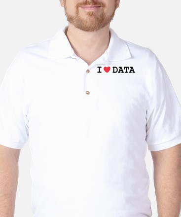 I Heart Data Golf Shirt