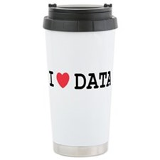 I Heart Data Travel Mug