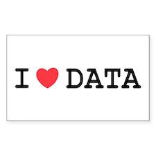 I Heart Data Rectangle Decal