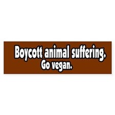 Boycott Animal Suffering Vegan Bumper Bumper Sticker