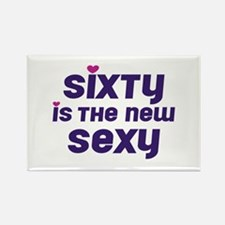 Sixty is the New Sexy Rectangle Magnet