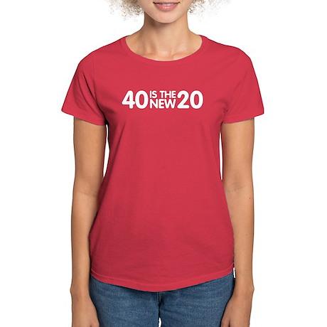 40 Is The New 20 Women's Dark T-Shirt
