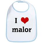 I Love malor Bib