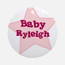 Baby Ryleigh Ornament (Round)